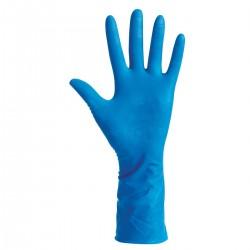 Guanti Monouso in lattice Pesante senza polvere Blu - BIOSAFE HIGH RISK DAR HR