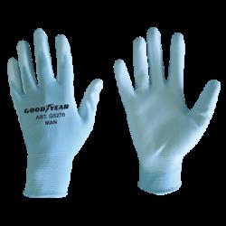 Guanti filo continuo elasticizzato con palmo ricoperto in poliuretano.