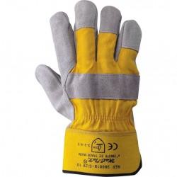 Guanti da lavoro in Pelle crosta di groppone e tela di cotone - P 85