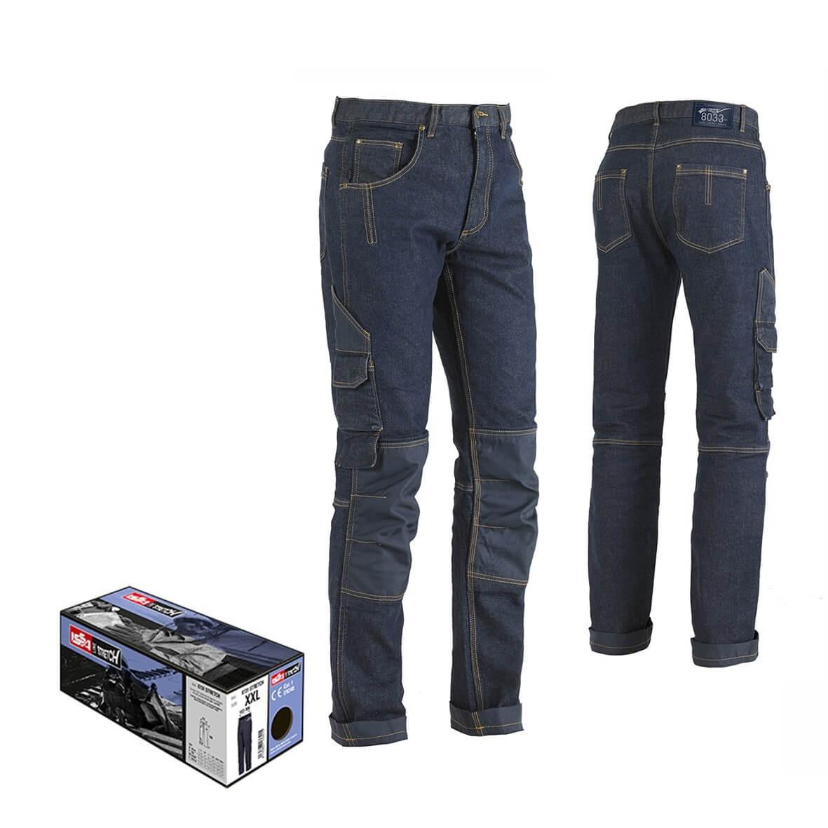 Jeans da lavoro Multitasche Elasticizzato MINER 8033 ISSA LINE Uomo Cotone Stretch