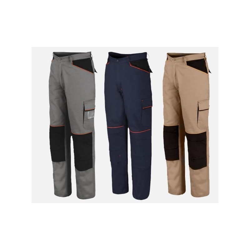 Pantaloni da lavoro Leggeri 100% cotone ISSA LINE 8930