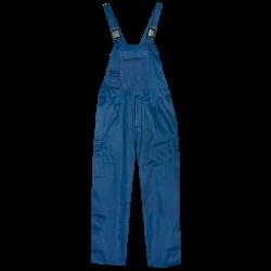Pettorina in cotone blu.