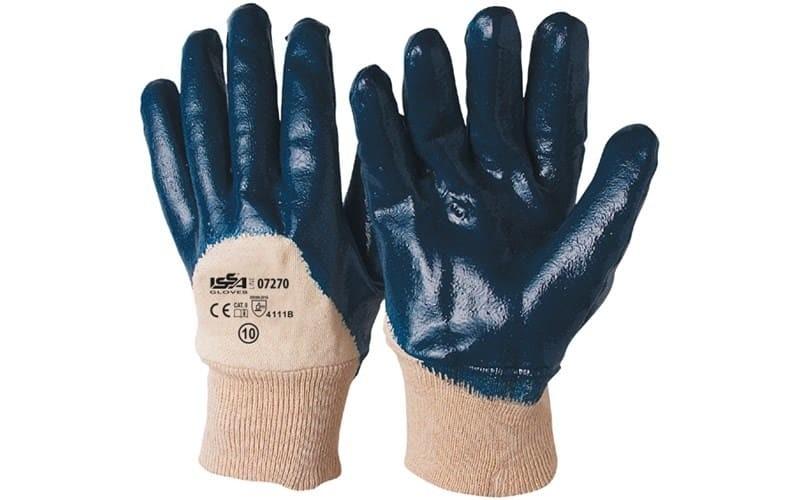 12 Paia - Guanti NBR in maglia con polsino elasticizzato - Dorso AREATO