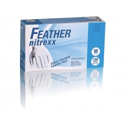 Guanti in nitrile senza polvere - Feather Nitrexx