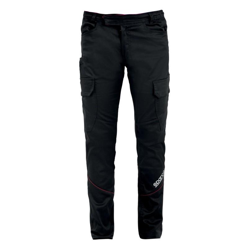 Pantalone da lavoro Sparco BOSTON Cargo Multiseason Elasticizzati Multitasche - Nero