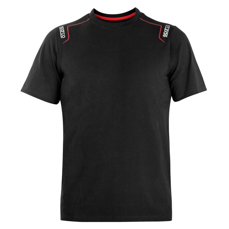 T-shirt Maglietta Elasticizzata TRENTON Sparco in cotone - Nero