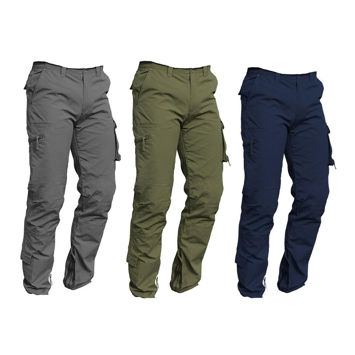 Pantaloni da lavoro ISSA RAPTOR in cotone 100% Multitasche Estivo