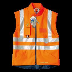 Gilet Alta visibilità GOODYEAR Impermeabile in Poliestere 100% - Arancio