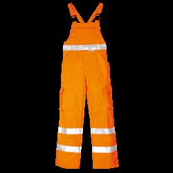 Pantaloni a Pettorina ad Alta visibilità in Cotone e Poliestere - Arancioni
